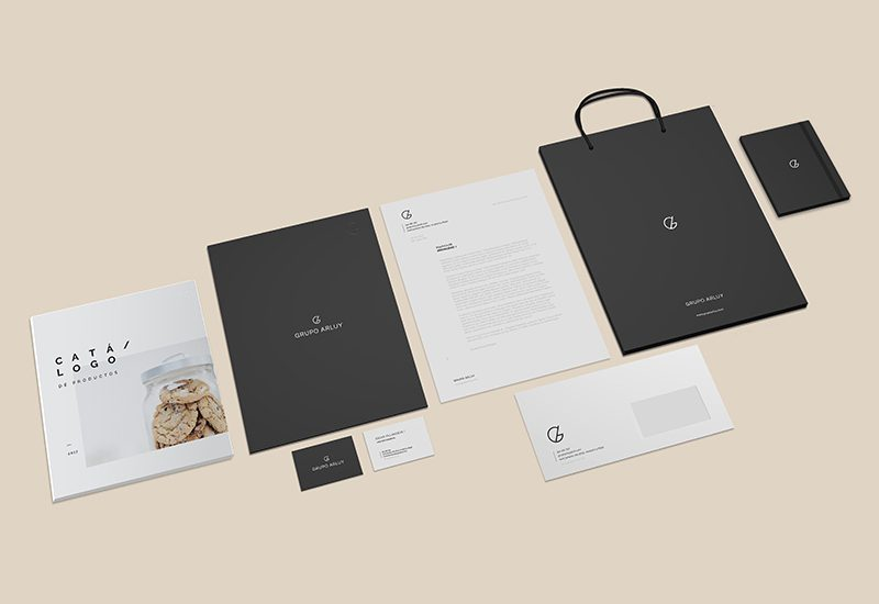 arluy-empresa-galletas-vistas-imagenes-rebranding-papeleria-branding