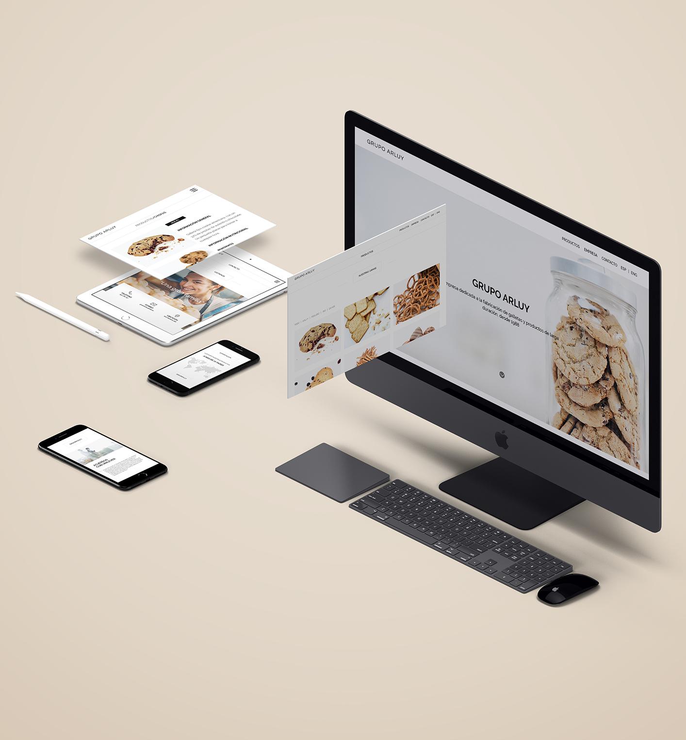arluy-empresa-galletas-vistas-rebranding-web-pantallas-dispositivos-branding